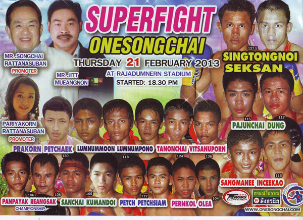 Onesongchai superfights 21-2-2013